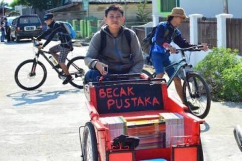 Becak Pustaka dari Polewali Mandar Sulawesi Barat