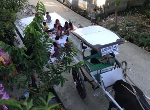 Bendi Pustaka dari Polewali Mandar Sulawesi Barat