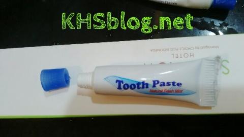 cara buka pasta gigi di hotel