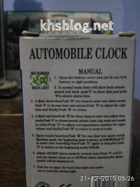 cara setting jam digital automobil clock