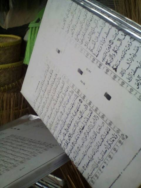 cetakan kue berbahan plat ayat qur'an