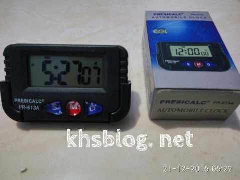 jam digital automobil clock Presicalc PR-613A tahun 2015