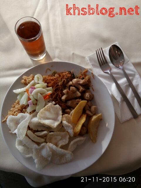menu sarapan di sala view hotel 2015