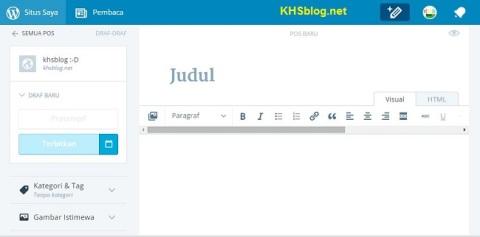 tampilan baru wordpress dot com tahun 2015