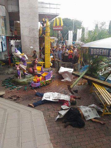 3 pekerja tewas di mitra 1 kota malang tanggal 5 Januari 2015