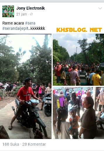 aksi 1000 serandal jepit di rumah Sukamto Kalimalang Sragen 2016