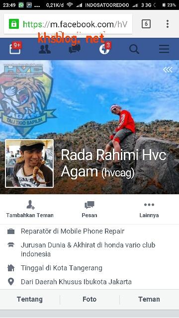 akun facebook Rada Rahimi HVC Agam anak sopir taksi Abu Yanis yang ditilang polisi dalam program 86 net tv tahun 2016