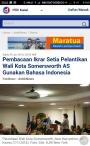 Bangga deh…Bahasa Indonesia digunakan sebagai bahasa ikrar pelantikan Walikota di New York, AmerikaSerikat.