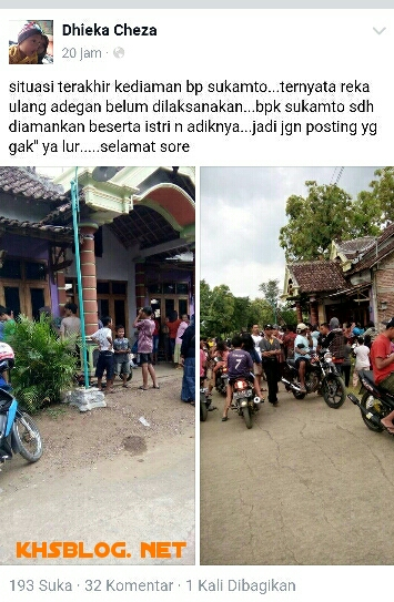 foto kondisi rumah Sukamto di Kalimalang Sragen 2016