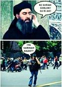 foto meme teroris sarinah sedang telpon pimpinan isis