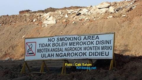 himbauan larangan merokok dalam 4 bahasa di cikarang tahun 2016
