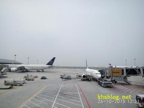 Malaysia Airlines, Garuda Indonesia dan Saudi Arabia Airline di Kuala Lumpur Internasional Airport tahun 2015