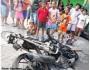 Motor Satria Fu punya maling ini dibakar di Surabaya dan malingnya di lempar kesungai