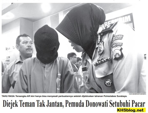 pemuda donowati mencabuli pacar tahun 2016 di Surabaya