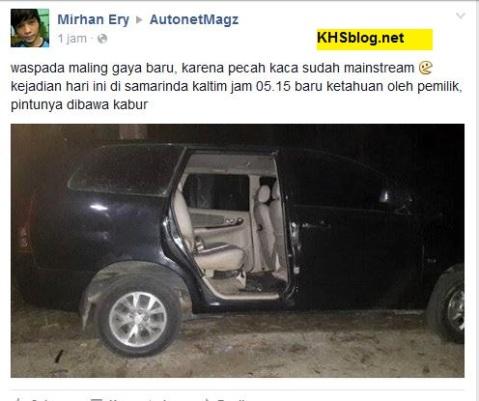 pencurian pintu mobil di kalimantan timur tahun 2016