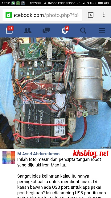 Tangan Robot Tawan disangsikan oleh M. Asad Abdurrahman
