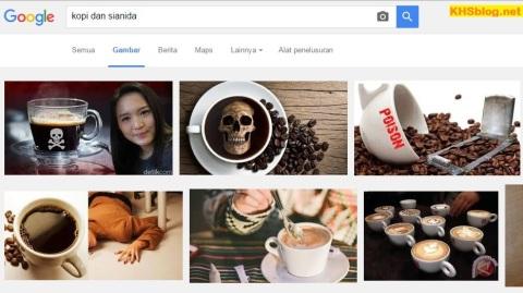 Zat Sianida dalam kopi yang disruput mirna tahun 2016