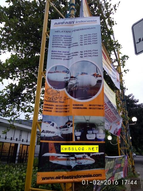 banner Tarif dan Jadwal penerbangan maskapai Airfast Indonesia tahun 2016...khususnya Surabaya-Bawean