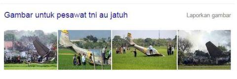 foto pesawat tni au jatuh
