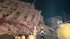 gedung ambruk akibat gempa di taiwan tanggal 5 pebruari 2016
