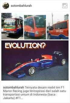 meme mobil balap rio Haryanto dan metro mini~01