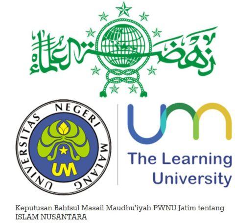 Mengenal apa itu Islam Nusantara...hasil Bahtsul Masail Maudhu'iyah PWNU Jawa Timur tahun 2016