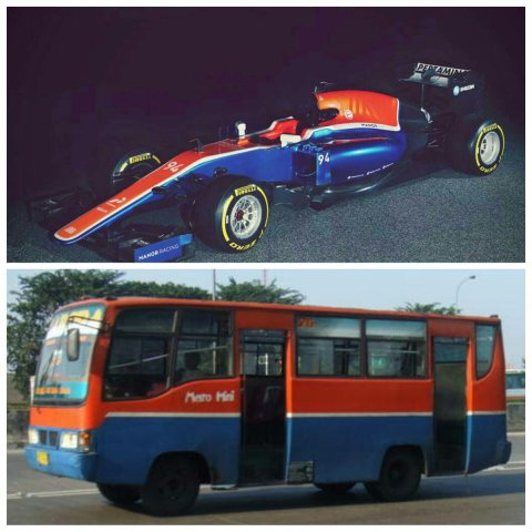 metromini vs MRT05 manor racing tahun 2016