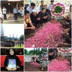 proses pemakaman pilot super tucano ivy safatilah putra Ronggolawe tahun 2016