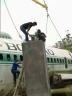 proses pemasangan pesawat bouraq di ponpes drajat lamongan 2016