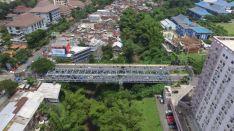 jembatan soehat malang dilihat dari atas drone