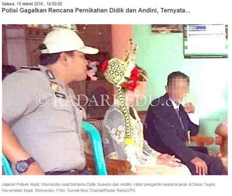 Pernikahan Mbak Andini dan Mas Didik di Wonosobo ini digagalkan oleh polisi....loh ada apa.