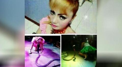irma bule pedangdut yang menari bersama ular meninggal dunia