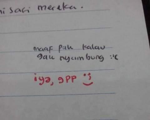 jawaban soal ujian yang bikin tersenyum minimal atau terbahak-bahak maksimal~13