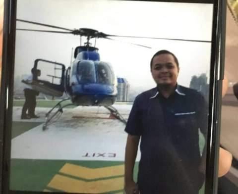 profil Wahyu Dewanto Suripman dengan helikopter carteran