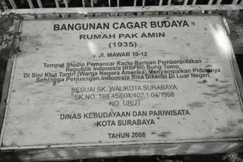 Cagar budaya di Surabaya yang terabaikan itu