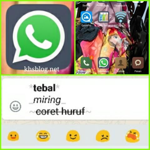 begini cara buat font tebal miring coret di WhatsApp tahun 2016