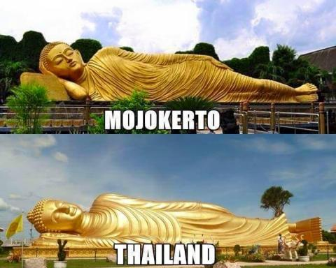Foto suasana mirip antara di Indonesia dengan di Luar Negeri (1)