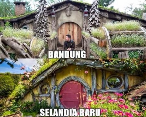 Foto suasana mirip antara di Indonesia dengan di Luar Negeri (2)