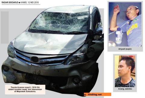 mobil toyota ringsek diceburkan ke sungai karena ugal-ugalan di dungus sukodono sidoarjo