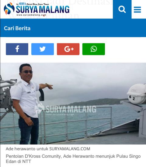 pulau singo edan di kabupaten Rote Ndao, NTT diresmikan tgl 14 Mei 2016