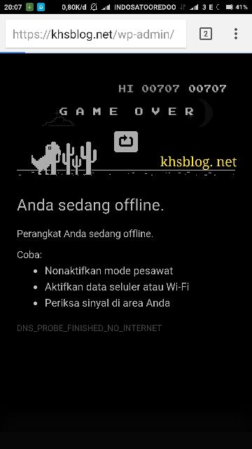 score game dinosaurus di browser Google Chrome tahun 2016