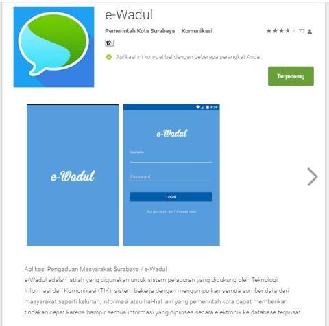 aplikasi e-wadul kota surabaya