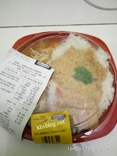 bonus Takjil Japanese Chicken Curry dari Indomaret Point tahun 2016