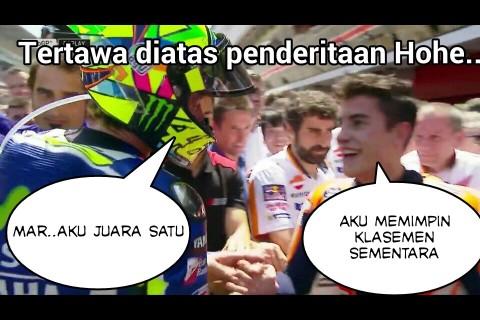 meme salaman Valentino Rossi dan Marc Marquez di GP Catalunya Spanyol 2016~02