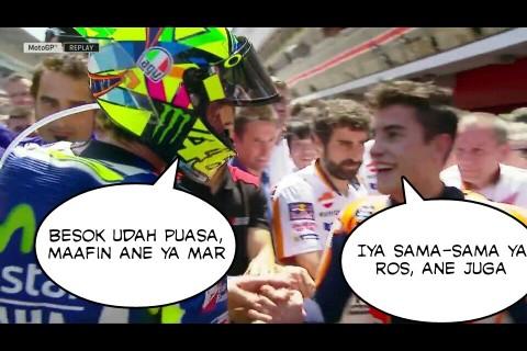 meme salaman Valentino Rossi dan Marc Marquez di GP Catalunya Spanyol 2016~03