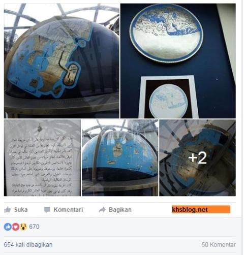 gambar bola dunia di musium islam turki bahwa bumi itu bulat tahun 2016