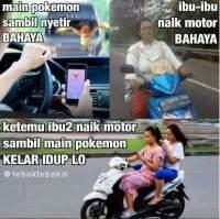 meme pokemon ibu naik motor tahun 2016