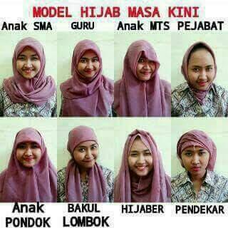 model dan gaya jilbab, hijab dan kerudung terkini tahun 2016