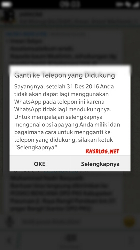 peringatan what's app tidak support Blackberry Z3 OS BB 10 bulan Juli 2016