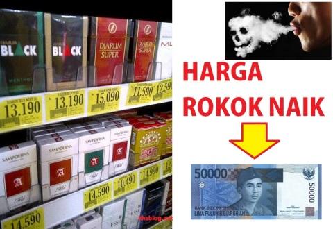 harga rokok naik rp 50000 per bungkus